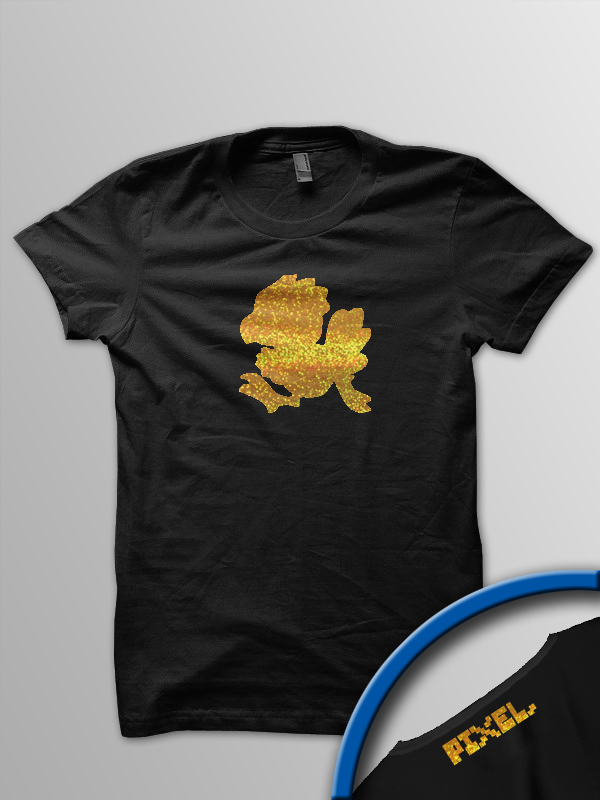 Pixel Pixels: The Golden Chocobo T Shirt (Limited Edition)